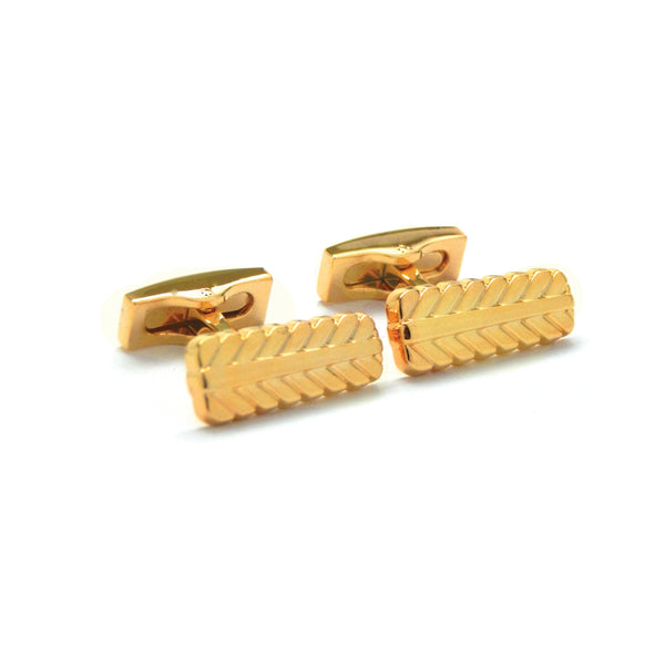Feathered Gold Plated Cufflinks