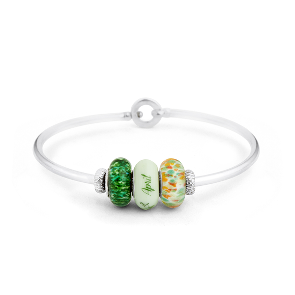 """April"" Heartstrings Bracelet - Fenton Glass Jewelry - 1"
