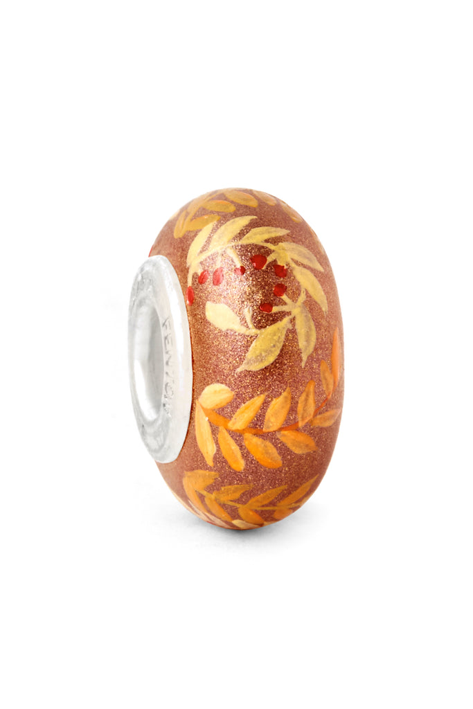 """Golden Hour"" Hand Decorated Glass Bead"