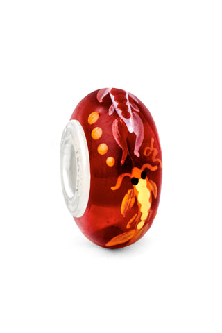 """Koi Pond"" Hand Decorated Glass Bead"