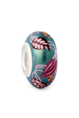 """Autumn Splendor"" Hand Decorated Glass Bead"