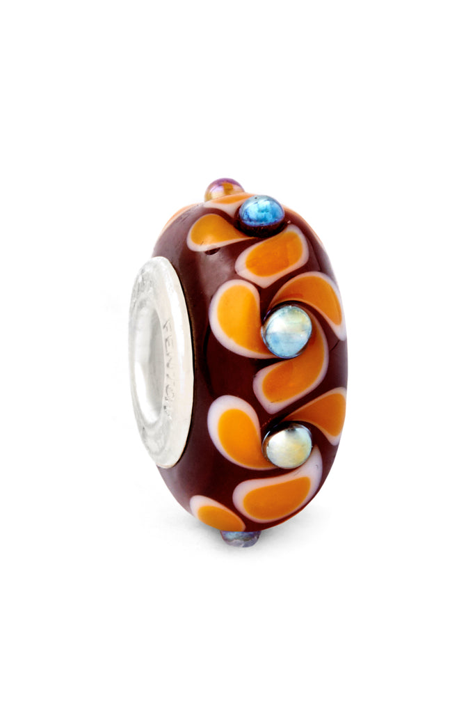 """Dance of Autumn"" Glass Crafted Bead"