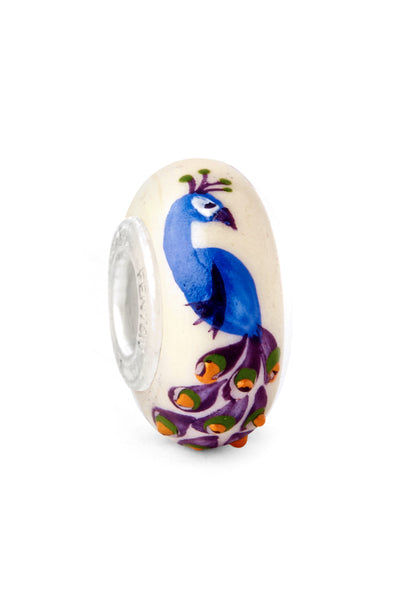 """Noble Beauty"" Hand Decorated Glass Bead"