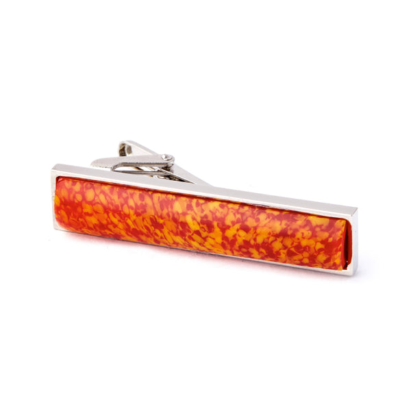 """Molten Lava"" Glass Crafted Tie Bar"