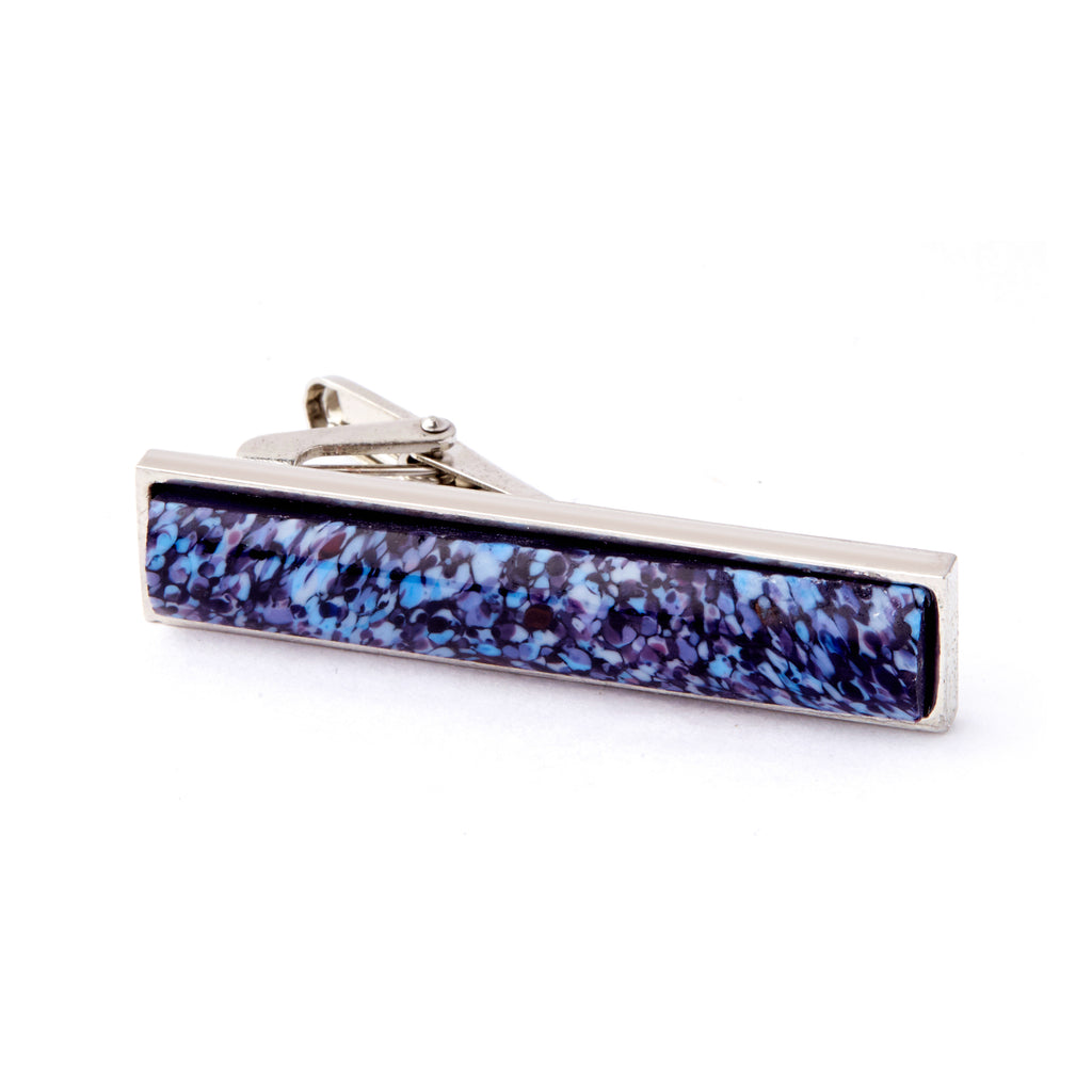 """Blue Sunrise"" Glass Crafted Tie Bar"