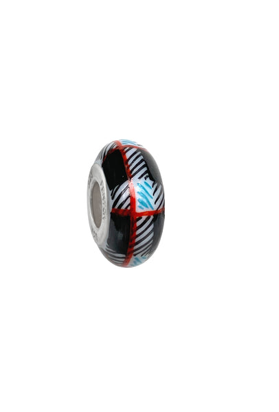 Mad for Plaid Murano Glass Bead