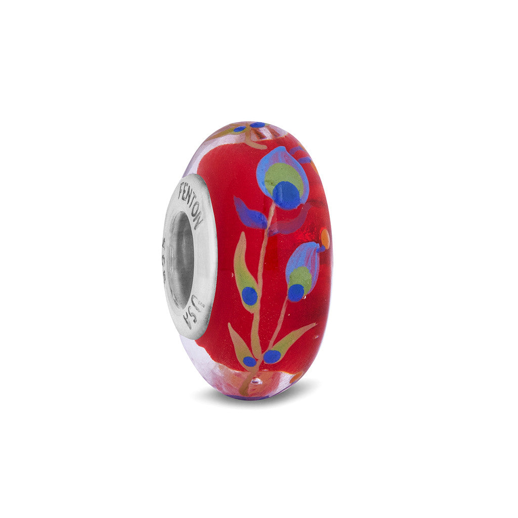 """Majestic Beauty"" Hand Decorated Glass Bead"