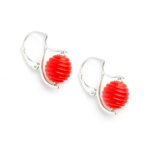 """Maraschino"" Hive Earrings"