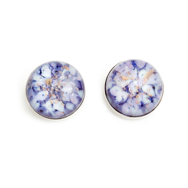 """Misty Mornings"" Glass Crafted Stud Earrings - Fenton Glass Jewelry"