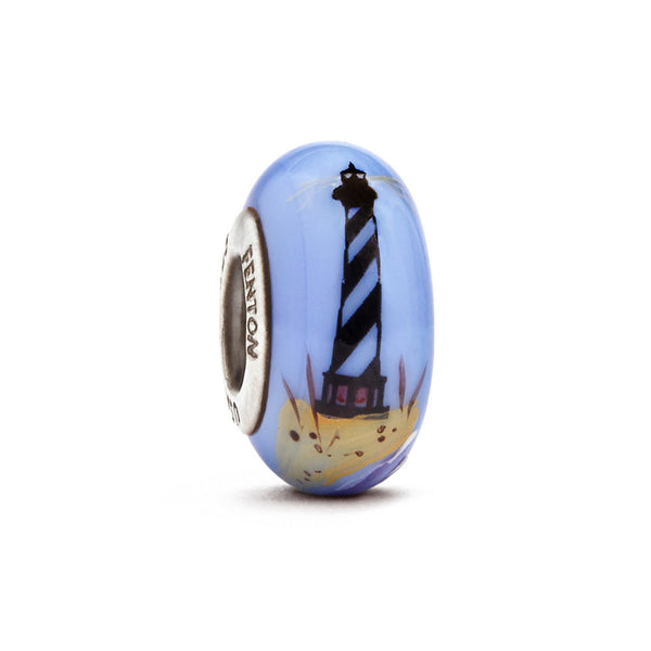 """Mystic Lighthouse"" Hand Decorated Glass Bead - Fenton Glass Jewelry"