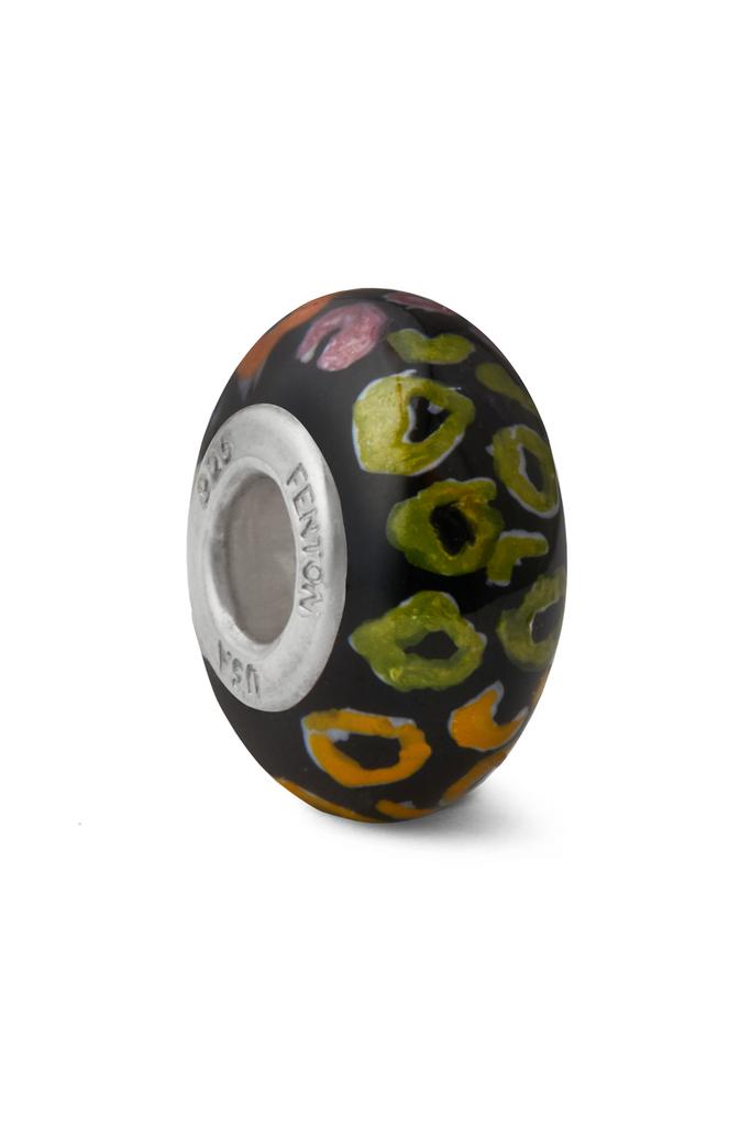 Neon Jungle Murano Glass Bead