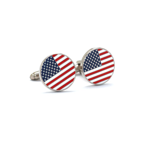 Patriotic American Flag Cufflinks