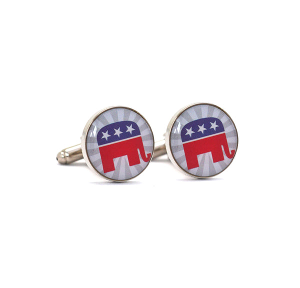 Patriotic Republican Cufflinks