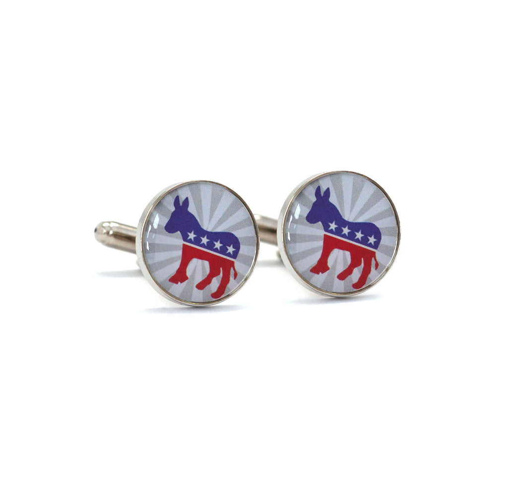 Patriotic Democrat Cufflinks