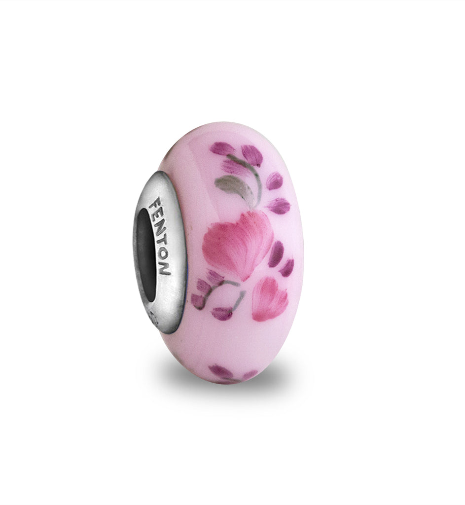 """Passion Petals"" Hand Decorated Glass Bead"