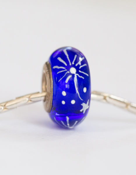 """Sparklers"" Hand Decorated Bead"