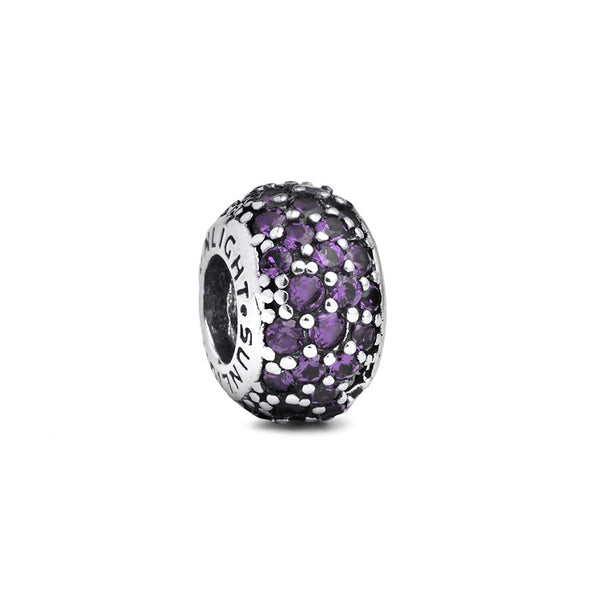 Purple Crystal Spacer Bead - Fenton Glass Jewelry
