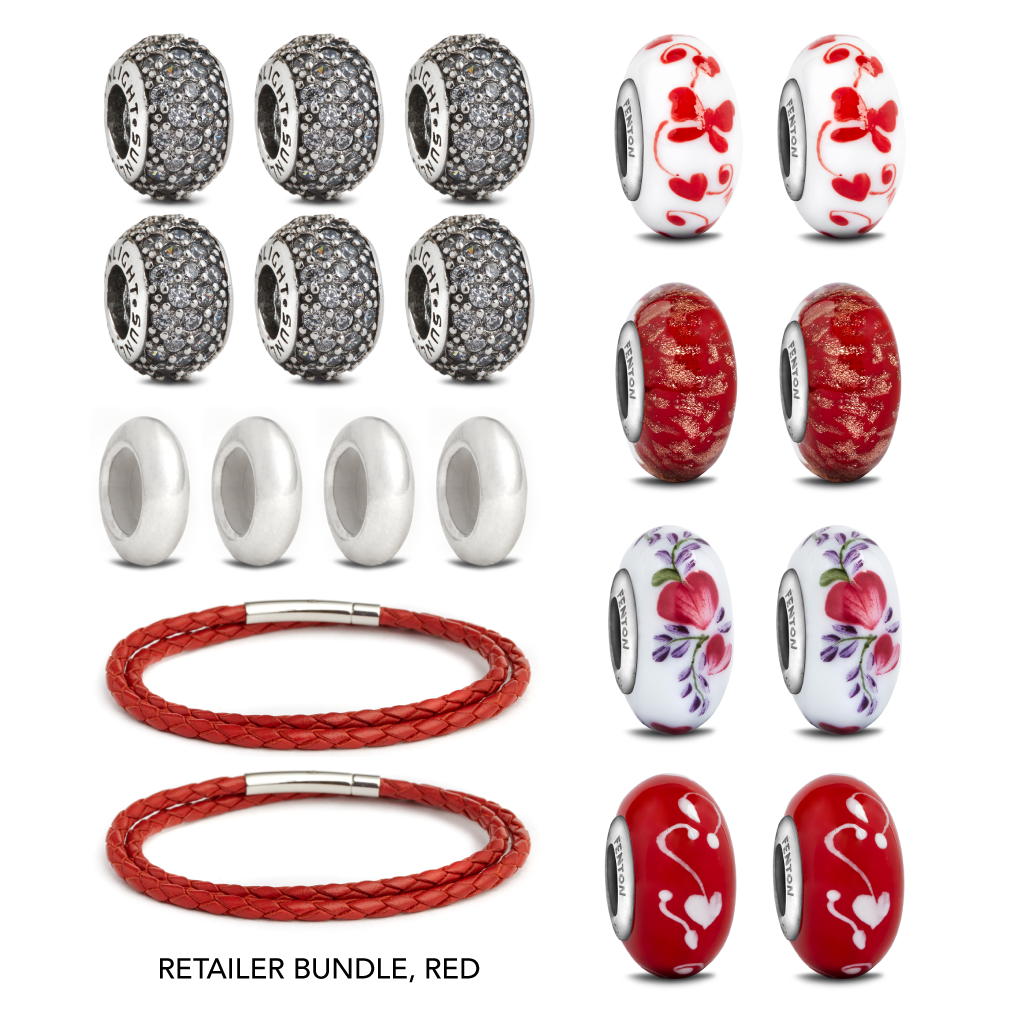 Valentine's Day Retailer Bundle - Fenton Glass Jewelry - 2