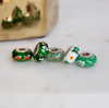 """Sweet Shamrocks"" Hand Decorated Bead"