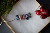 """Swirling Snow"" Glass Crafted Bead"