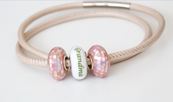 Mother's Day Bead, Spacers, & Leather Bracelet Bundle