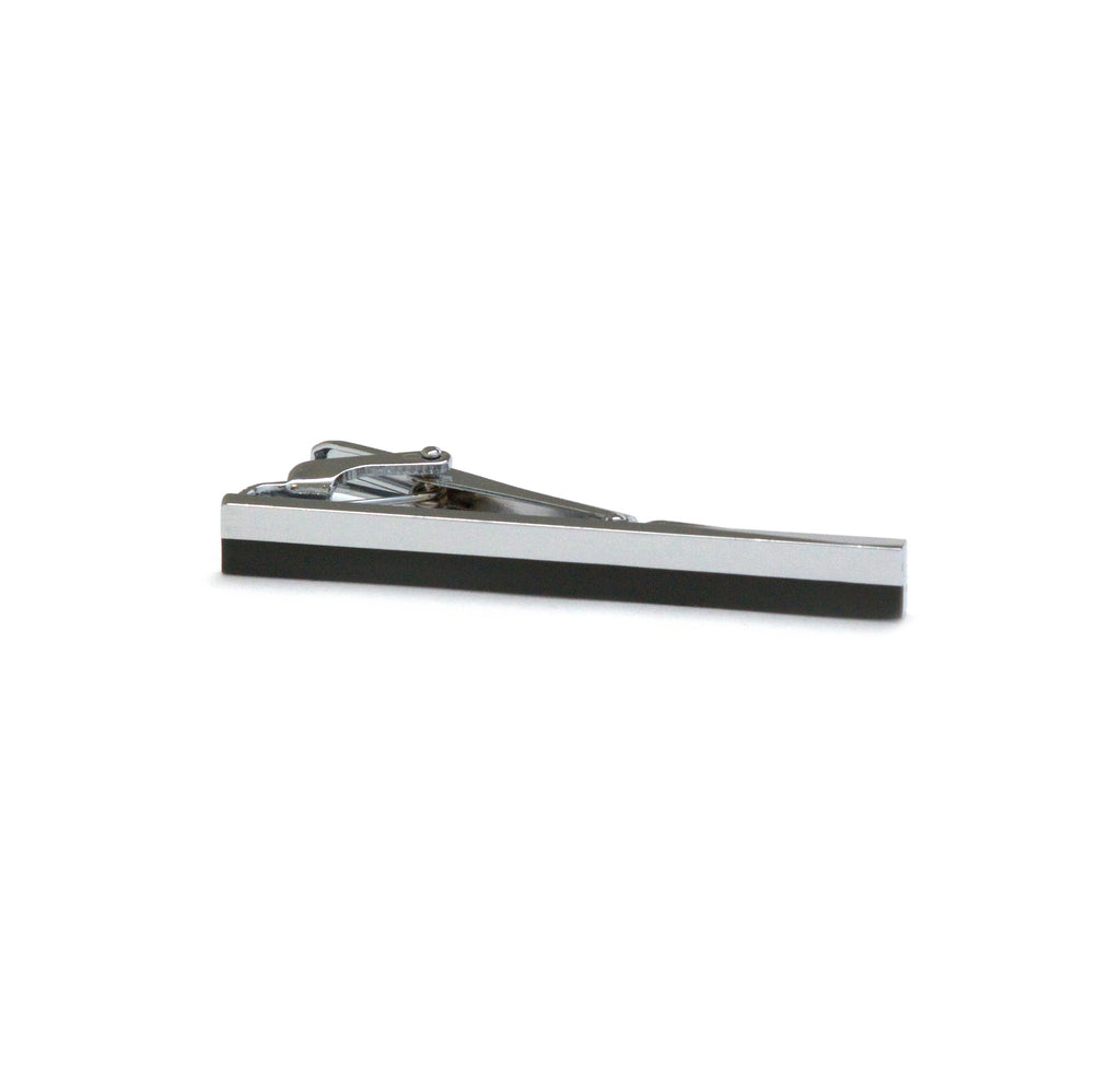 Two-Tone Rhodium-Plated 55mm Tie Bar