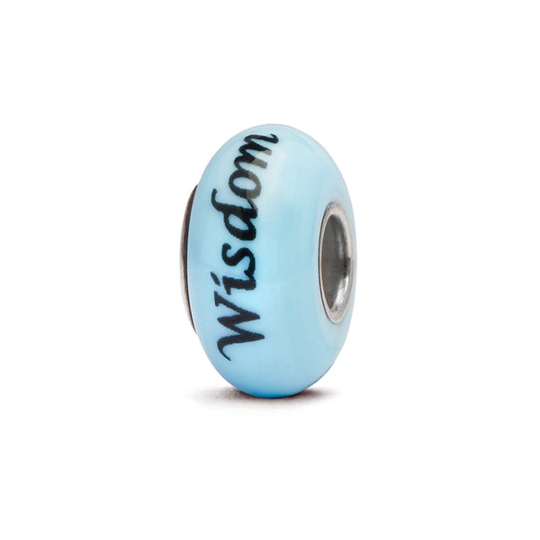 """Wisdom"" Hand Decorated Glass Bead"