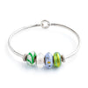 Bangle Bracelet with Stoppers - Fenton Glass Jewelry - 2