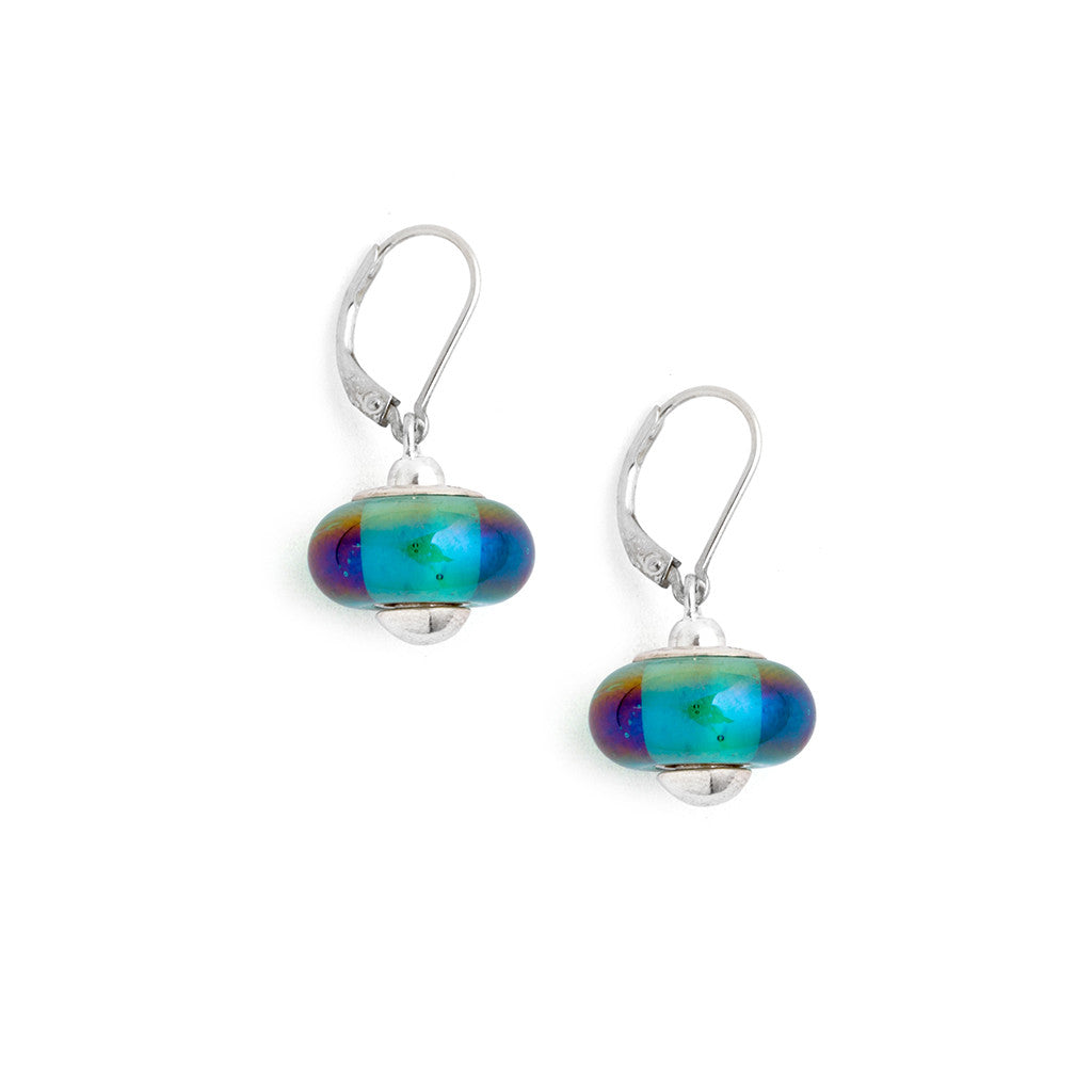 art products with purple sterling green phosphosiderite earrings elfin swirl glass beads and iris