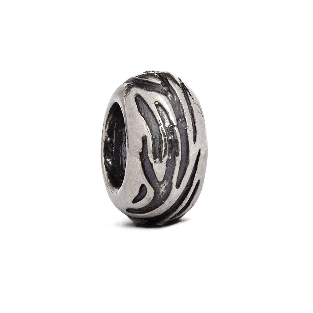 Zebra Spacer Bead - Fenton Glass Jewelry