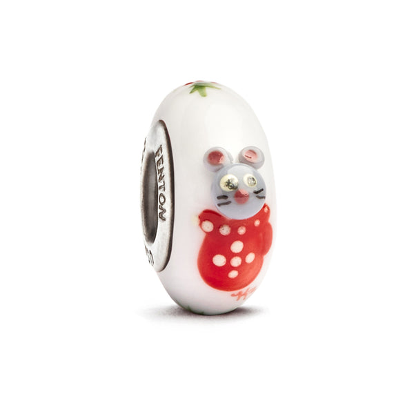 """Snuggle"" Whimsy Hand Decorated Glass Bead"
