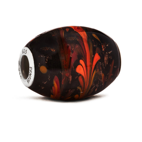 """Autumn Fires"" Glass Cornerstone Bead"
