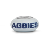 Utah State Collegiate Gray Glass Bead