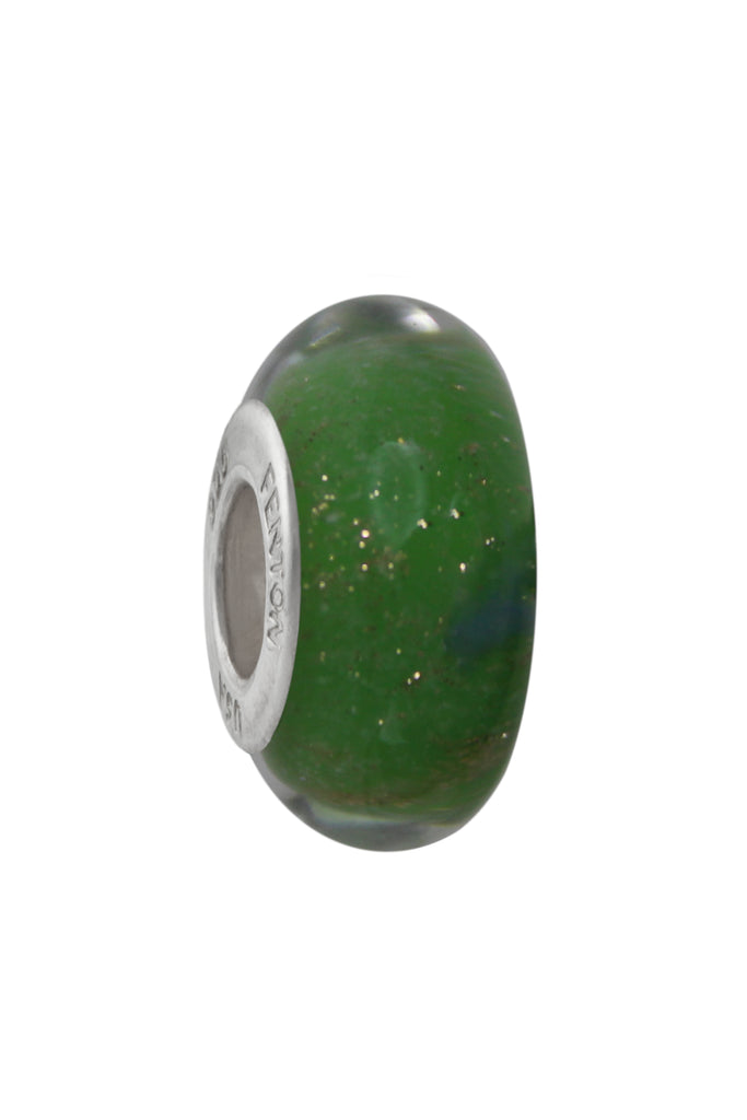 Verdant Dream Murano Glass Bead