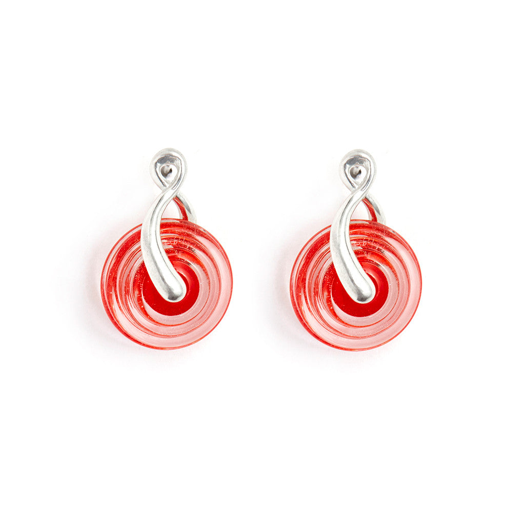 """Vermillion"" Paper Lantern Earrings"