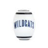 Villanova Milk Glass Collegiate Cornerstone Bead - Fenton Glass Jewelry - 2