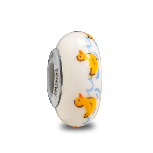 """Lucky Duck"" Hand Painted Bead"