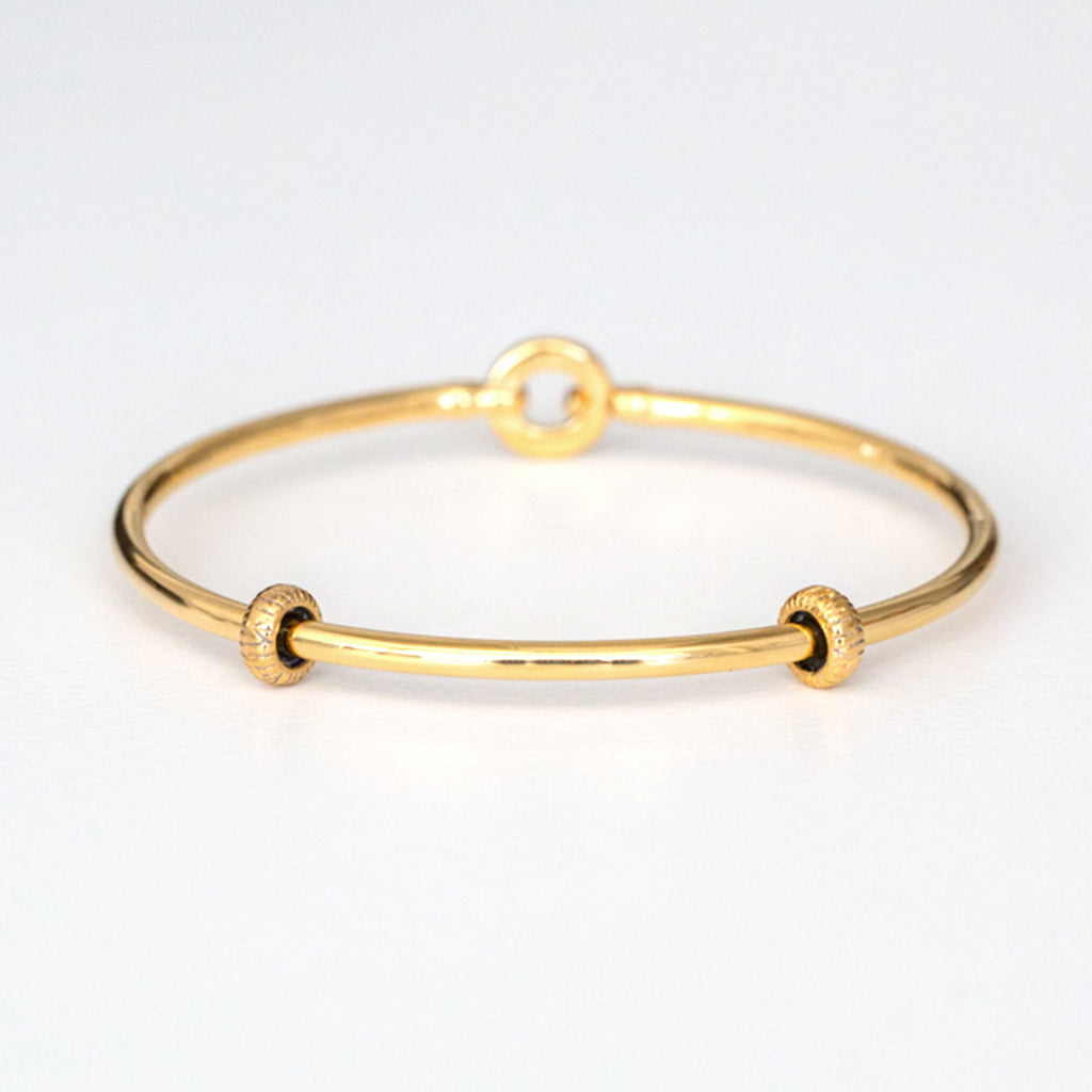 Gold Bangle Bracelet with Stoppers