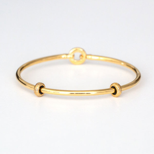 Gold Bangle Bracelet with Stoppers NEW LOWER PRICE