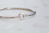 Sterling Silver Bangle Bracelet with Stoppers NEW LOWER PRICE