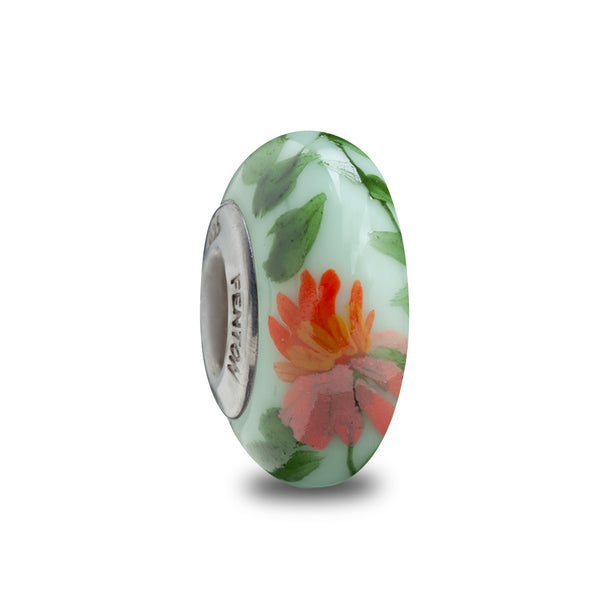 """Boho Blossoms""  Hand Painted Bead"