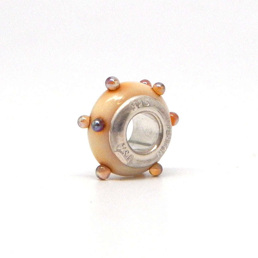 Cream 3-D Spacer Bead