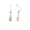 """Hope"" Teardrop Earrings - Fenton Glass Jewelry"
