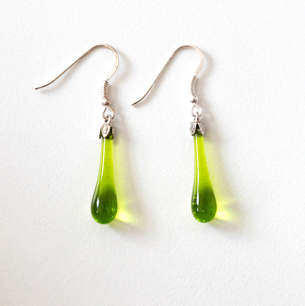 """Lime"" Teardrop Earrings"