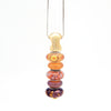 Gold Vertical Bead Holder Pendant