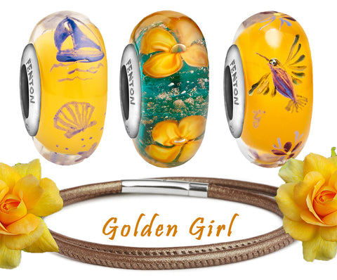 """Golden Girl"" Coastline Bead Bundle"