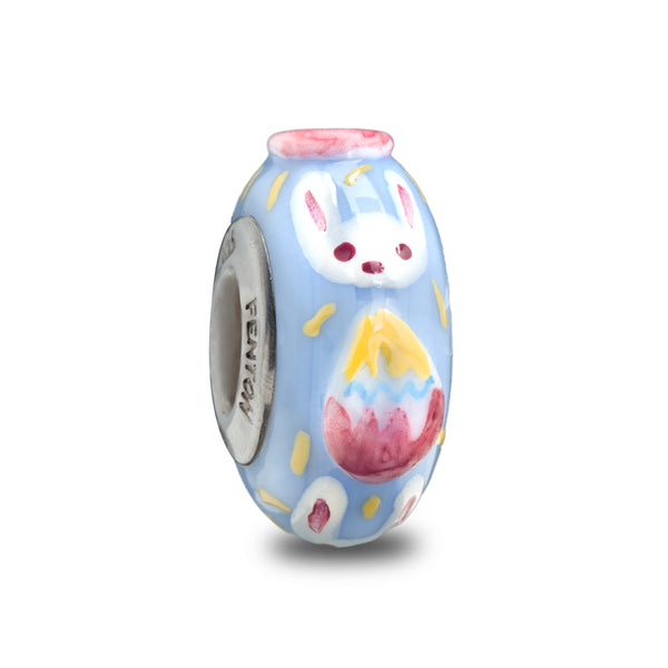 """Hippity Hop"" Hand Decorated Bead"