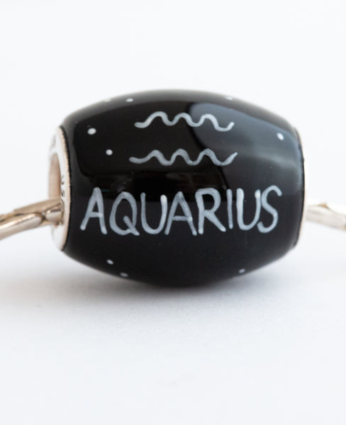 """Aquarius Cornerstone"" Hand Decorated  Bead"