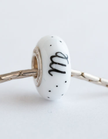 """Virgo"" Hand Decorated  Bead"