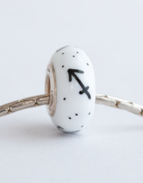 """Sagittarius"" Hand Decorated  Bead"